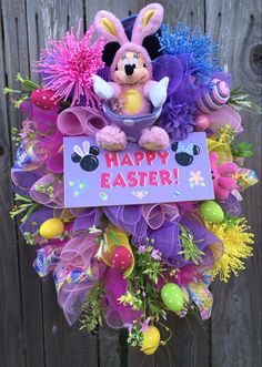 Minnie Mouse Easter Wreath Minnie Mouse Easter by BaBamWreaths