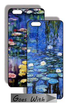 CELLPHONE FASHION - Clear Flexible Bumper Cover plus 6 Different Inserts - for iPhone 6 & 6S - Monet Waterlilies - SET 14
