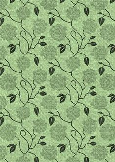 Floral Weave 8 on Craftsuprint designed by Ester Collins - Lovely floral paper with a woven overlay - Now available for download!