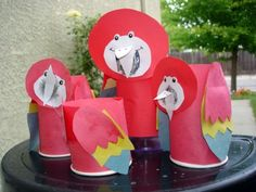 Craft idea for Reese's Tropical Animal Birthday Party