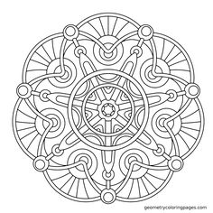 Coloring Page, Cathedral from geometrycoloringpages.com
