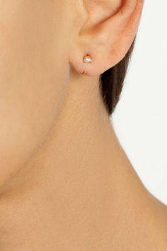 MELISSA JOY MANNING 14-karat gold pearl earrings $200.00 http://www.net-a-porter.com/products/514540