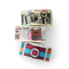 Washi tape 3 set -camera- typewriter-travel-photo-masking tape -value pack…