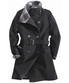 BROWN BAG: Burberry Brit Webberly Spongy Wool Coat with Shawl Collar