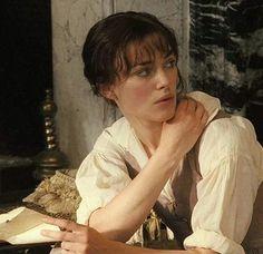 Elizabeth Bennet and the over the shoulder look...