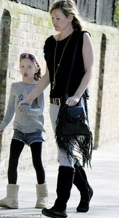 Kate Moss Out with Lila Grace in London April 13 2010
