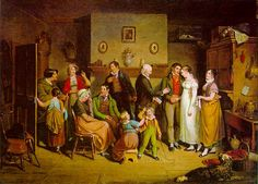 The Country Wedding by John Lewis Krimmel, 1820, depicting the marriage of a properous PA farmer's daughter.