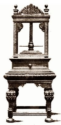 The early 17th century napkin press illustrated is very ornate and elaborately carved and may well have cost more than one pound,