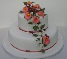 Two Tier Wedding Cakes, Desserts, Food, Wedding Gown Cakes, Meal, Wedding Pie Table, Deserts, Essen, Wedding Cake