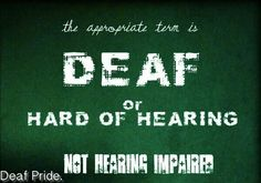 Also the term deaf and dumb is not used!