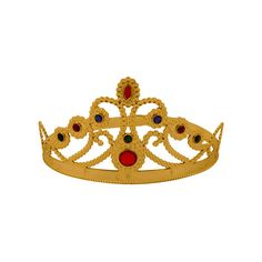Material: Plastic Suitable for all kids and adults Crown has adjustable slots to fit most heads Queens Birthday Party, Queen Birthday, Medieval Gothic, Golden Crown, Princess Tiara, Fancy Dress Accessories, Period Costumes, All Kids, Tiaras And Crowns