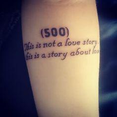 Essa frase colocada de forma simples de 500 Dias com Ela: | 33 tatuagens incríveis inspiradas em filmes