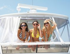For the Seafaring Bride: A Day on the Water - Rent a luxe yacht or a large speedboat or plan a river-rafting trip and take your friends out for the day. Not only will it give the bride a chance to get some sun before her honeymoon, but you'll also have plenty of time to bond out on the water. And don't forget to bring the booze -- an ocean breeze is an appropriate choice (blue curacao, pineapple juice, rum and amaretto); and for your river trip, make Moon Rivers for everyone.