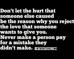 Don't let the hurt...