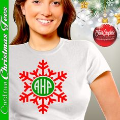 Monogrammed Christmas Shirts Custom Made with your initials. We offer several different Christmas Shirt Designs and Colors. http://www.jassgraphix.com/product-category/shirts2/christmas-shirts