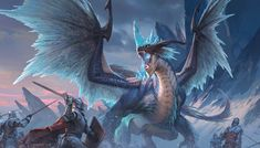 Mythical Creatures Art, Alien Creatures, Fantasy Creatures, Dnd Dragons, Dungeons And Dragons, Zed League Of Legends, Ice Dragon, Fantasy Beasts, Dnd Monsters
