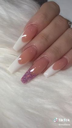 Acrylic Nail Shapes, Best Acrylic Nails, French Acrylic Nails, French Acrylics, Acrylic Nail Designs, Mauve Nails, Pink Nails, Long Red Nails, Long Nail Art