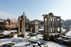 Roman Forum and the arch of Septimius Severus, Italy