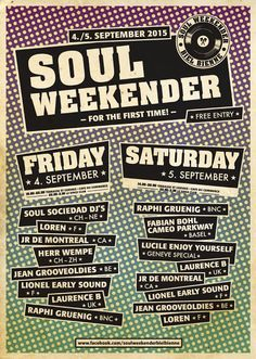 Herr Wempe a/k/a DJ Soulsonic: 1. Soul Weekender Biel-Bienne