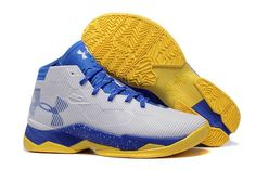 af0705a416ce Discount Stephen Curry Shoes Basketball Shoes Sale - Cheap Under Armour  Curry - Men  s White Blue Yellow Basketball Shoes Online