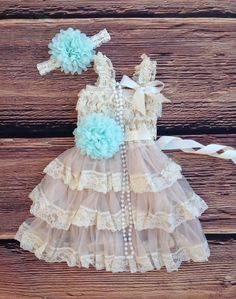 Mint Beige Lace Toddler Baby Girl Dress, Mint Beige Flower Girl Dress Toddler Vintage Dress, Rustic Country Western Wedding, Beach Wedding by AvaMadisonBoutique on Etsy https://www.etsy.com/listing/211288438/mint-beige-lace-toddler-baby-girl-dress
