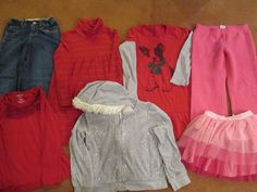 Girls Sz 7 Casual Wear 7 Pieces Assorted Brands Gymboree Old Navy Justice      #Assorted #Everyday