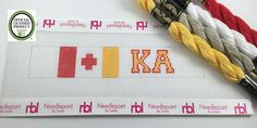 Needlepoint Key Fob Kit- Kappa Alpha Order- Officially Licensed by…