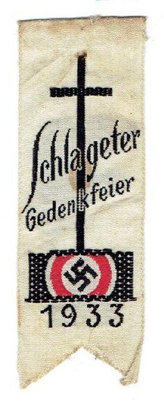 Schlageter 1933_ribbon_Tieste # Schlageter 33-01__value $40 US in 2018___ADV__Source: Winterhilfswerk.com