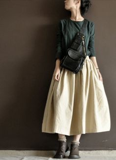 Rice white Cotton Big skirt