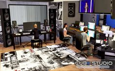 Lana CC Finds - The Sims 4 Cube Studio (Recording Studio) by Livia...