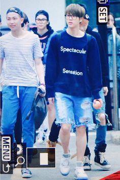 BTS @ 150515 otw to Music Bank