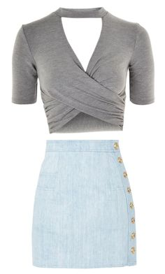 """""""Untitled #23"""" by afcyrani on Polyvore featuring Topshop and Balmain"""