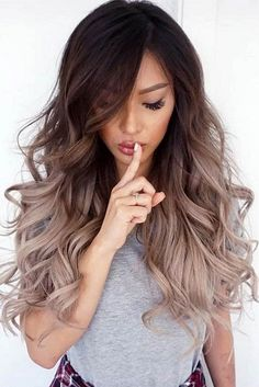 Trendy hairstyles for long hair - Haare balayage - Hair 30 Hair Color, Hair Color 2018, Hot Hair Colors, 2018 Color, Trendy Hair Colors, In Style Hair Colors, Color For Long Hair, Colour Melt Hair, Winter Hair Colour