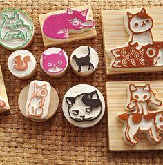 橡皮章,Stamp Carving Patterns, Simple Printmaking for Kids , Carving with  Eraser Carving, Stamps , Printing, Carving Tools, Pattern, Template, Idea, Art Teacher, Art  Design, DIY , Japanese, Activities for Kids,Animal , Cute, Adorable