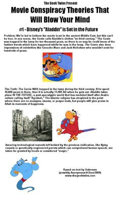 53 best Ideas for quotes disney aladdin movies Disney Conspiracy Theories, Conspiracy Theories Mind Blown, Cartoon Conspiracy, Fan Theories, Cartoon Theories, Funny Disney Facts, Disney Memes, Disney Quotes, Aladdin Quotes
