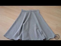 Practical Skirt Sewing Without Using Mold / Easy Skirt Only With Waist Size / How to Practice Skirt? Knitting Stitches, Free Knitting, Knitting Patterns, Sewing Patterns, Wie Macht Man, Girl Dress Patterns, Knit Cowl, Beaded Flowers, Flare Skirt