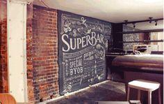 superbar, alison owen, chalkboard, typogrphy, calligraphy