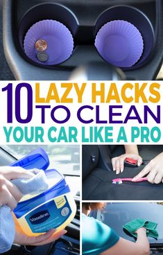Keeping the car clean and organized can be a big ask when you're so busy. These 10 budget-friendly car cleaning tips will help you keep that car on your drive organized at all times! cleaning tips 10 Car Organization Ideas