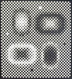 Métagalaxie (1959-1961), Victor Vasarely.  ''Dynamo'' au Grand Palais. Vu le 15 juillet 2013.