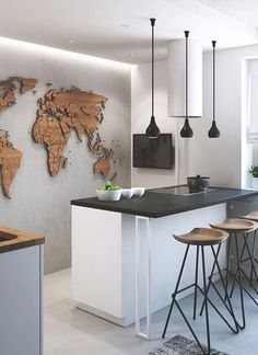 como-usar-mapas-na-decoração (Foto: Reprodução/Pinterest)