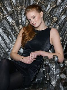 Sophie Turner on the Throne