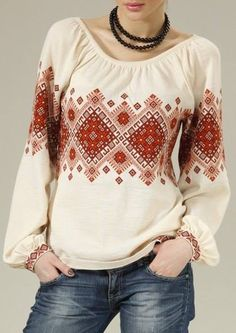 embroidery is Ukrainian.Its gorgeous. Something to file away if I ever go traveling to that part of the world. Polish Embroidery, Folk Embroidery, Embroidery Fashion, Mode Mori, Folk Fashion, Womens Fashion, Ethno Style, Embroidered Clothes, Blouse And Skirt