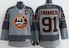 "$34.88 at ""MaryJersey"" (maryjerseyelway@gmail.com) #91 John Tavares - Islanders Charcoal Cross Check Fashion Stitched NHL Jersey"