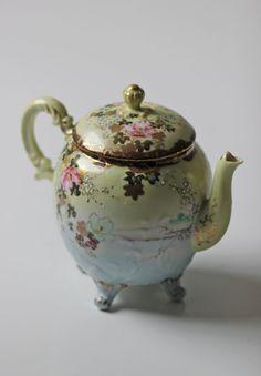 vintage porcelain floral teapot