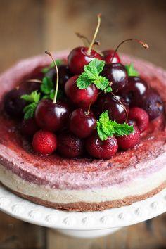 Cherry Chocolate Raw Cheesecake