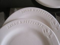 Custom cake plate with names and wedding date <3
