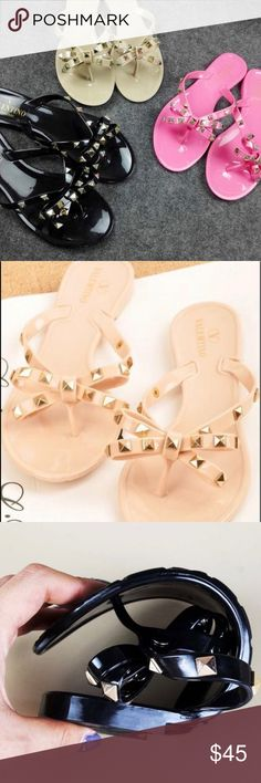 valentino jelly sandals will be receiving the nude pair of these in late july! these are a size 6, so hey will run smaller than that! these will be lighter than the original color! will post actual pictures of product when i receive them! Valentino Shoes Sandals