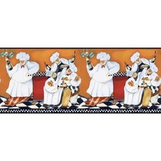 York Wallcoverings 9 in. Chef's A Cookin' Border-BG1680BD - The Home Depot