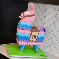 Fortnite Loot Llama Cake Created this one for my son's birthday. It would be a loot llama if it wasn't filled with loot. Its partially. Cute Birthday Cakes, Kids Birthday Themes, Birthday Decorations, Birthday Parties, Llama Birthday, My Son Birthday, Star Wars Birthday, Snake Cakes, Surprise Cake