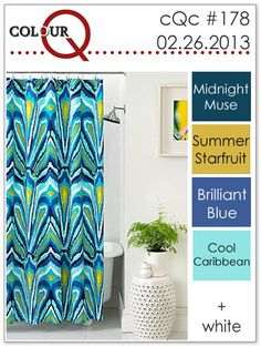 Trina Turk Peacock- stampin up midnight muse, summer starfruit, brilliant blue, cool caribbean